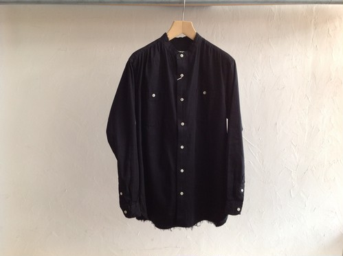 "bukht ""band collar shirt basic black"""