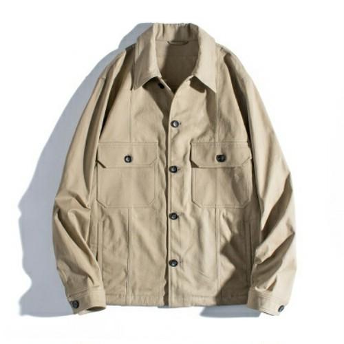 送料無料メンズ大きいサイズ黒/ベージュ/裾絞り/ポケット付/ジャケット