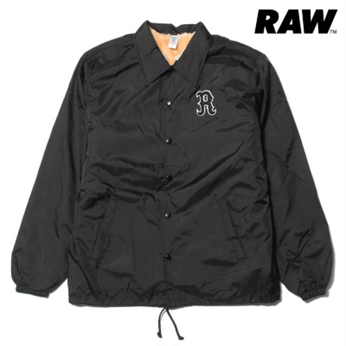 RAW THE RAW NYLON COACHES JACKET BLACK