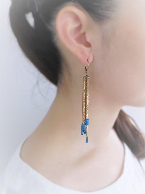 vintage pierced earrings fringe <PE-Fgl/sv>