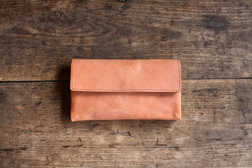 -souple style- long wallet salmon