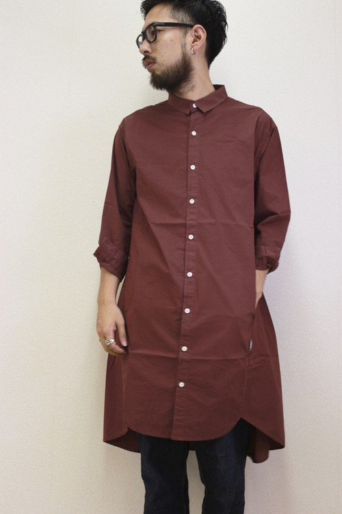 refined effect long shirts wine