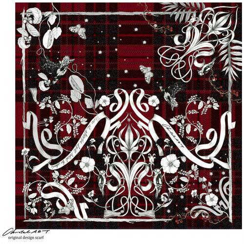 ◆新作◆限定1点のみ◆100cm角「キツツキの森」クリスマス限定カラー