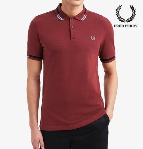 フレッドペリー ポロシャツ メンズ Fred Perry ABSTRACT TIPPED POLO SHIRT M8551 PORT 正規販売店