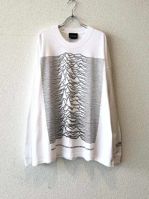 "【19043】WIDE SILHOUETTE L/S Tee ""DOT GRADATION"" (WHITE)"