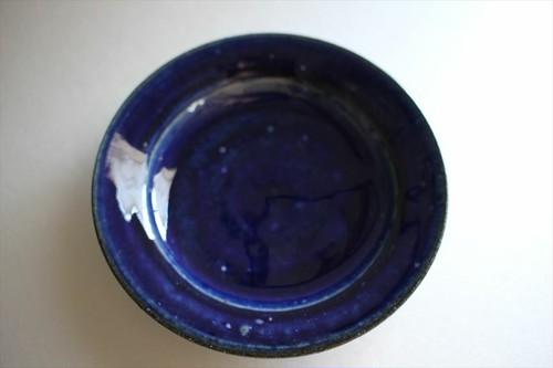 臼田けい子|ルリ釉5寸段皿