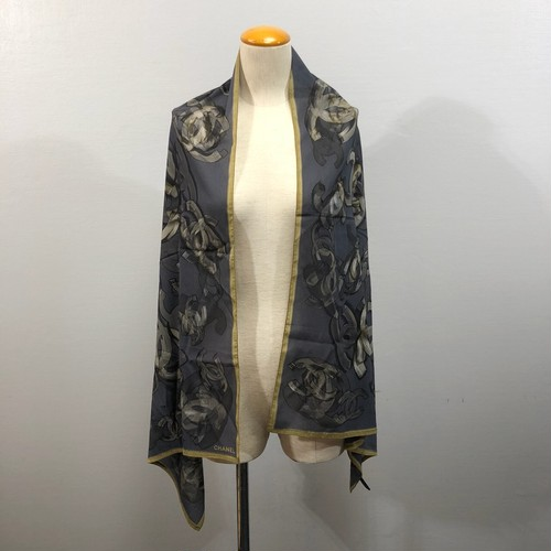 .CHANEL COCO MARC SILK LARGE SIZE SCARF STOLE MADE IN ITALY/シャネルココマークシルク大判スカーフ(ストールショール)2000000030425