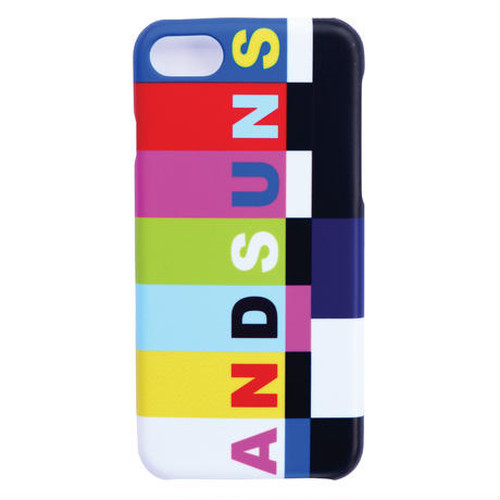 """ANDSUNS(アンドサンズ) """"COLOR BARS IPHONE CASE"""" [Black]"""