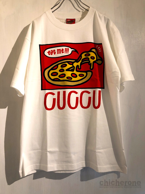 【DELIVERY PIZZA CUCCU】 Cuccu Pizza Logo ss T-shirt WHITE
