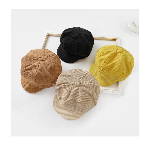 【予約】ユニセックスコーデュロイハンチング帽