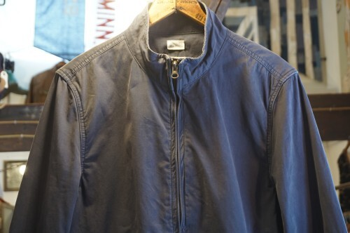 Broken-in by J.CREW navy cotton zip-up Jacket