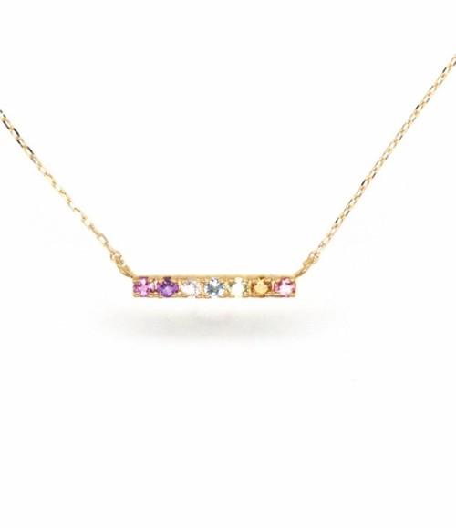 Amulet angel LADDER color necklace(お守り天使ジュエリー)K18YG