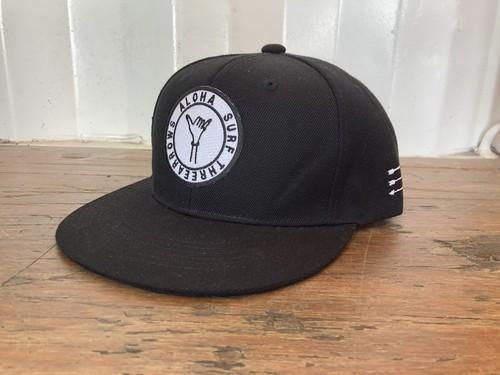 ALOHA SURF スナップバック CAP(black)