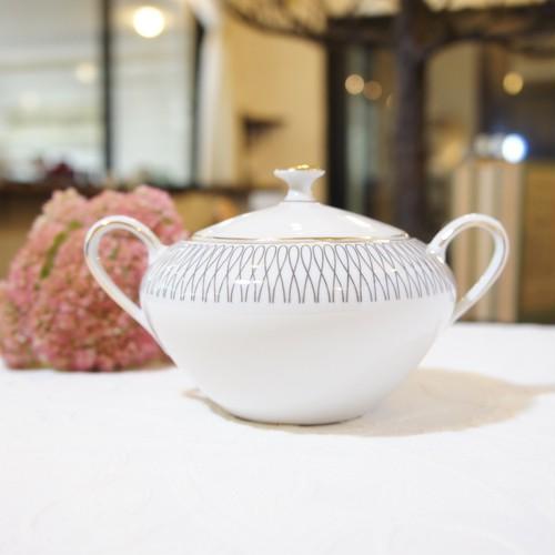 "60's Vintage ""BAVARIA [ババリア]"" Art-Deco Style Sugar Bowl   [CCV-31]"