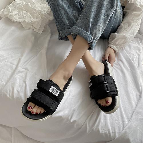 レディース サンダル スポーツサンダル 大きいサイズ 履きやすい 夏物 バックル 黒 ブラック 白 ホワイト 韓国