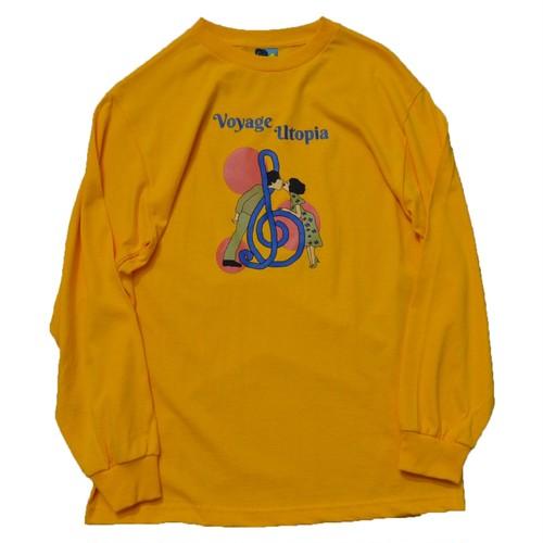 VOYAGE UTOPIA / FALLIN' L/S T-SHIRT -GOLD-