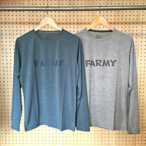 "HARVESTA! ×FOXFIRE / 防虫加工素材スコーロン速乾L/STシャツ ""FARMY"""