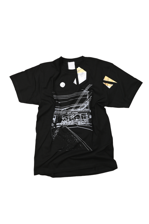 NO.548 大田原市の西原小学校前のTシャツ【栃木】【XLサイズ】