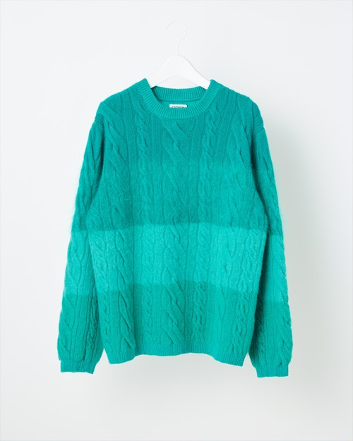 【COOHEM UNISEX】ANIMAL GRADATION SWEATER:グリーン