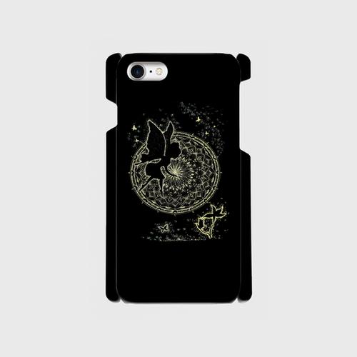 iPhone8スマホケース 点描画 妖精1