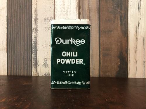 Durkee「CHILI POWDER」ヴィンテージスパイス缶