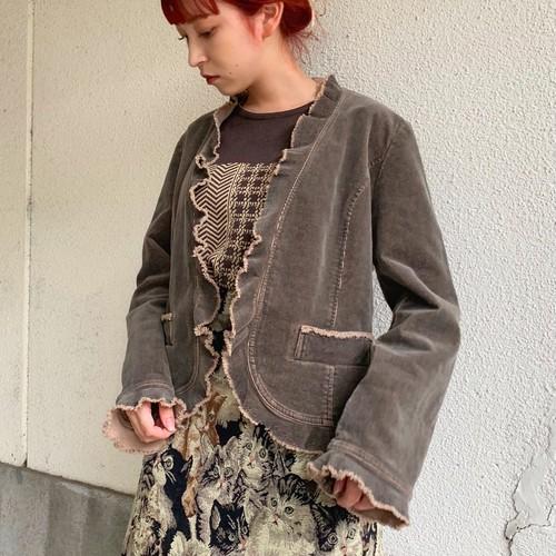 (LOOK) corduroy frill design jacket