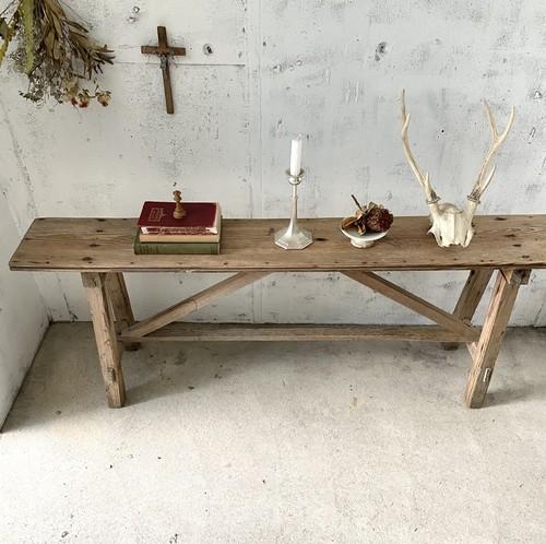 古木の木製ベンチ[古家具]