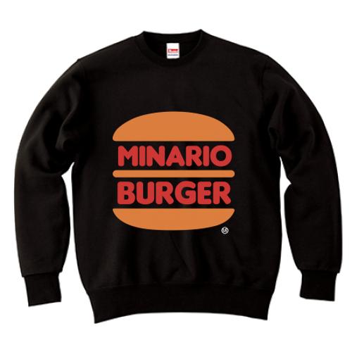 minario / MINARIO BURGER CREWNECK SWEAT BLACK