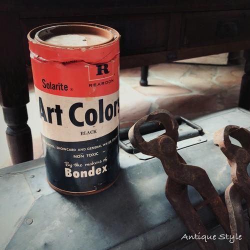 1962 アメリカヴィンテージ REARDON 水性塗料 Art Colors ヴィンテージ缶 レトロ【F-008B-007】