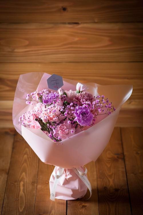 【母の日・花のプレゼント】モワルーブーケ(ピンク系花束)