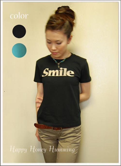 ロゴT Smile レディース ブラック