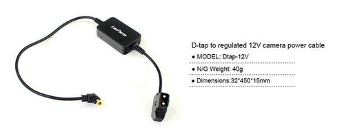 Lanparte社・Dtap-12v・VマウントバッテリーのD-Tapに接続しDC12v出力に変換するケーブル