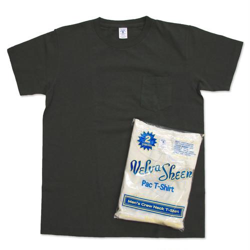 Velva Sheen/ベルバシーン 2パックTシャツ クルーネック ポケット付 WHITE×BLACK