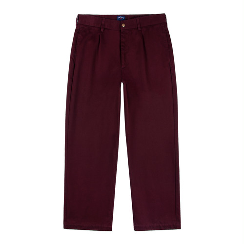Single Pleat Chino(Burgundy)