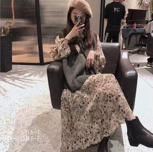 fleur artificielle dress