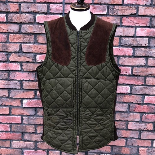 1980s Barbour Quilted Shooting Vest Made In England /L