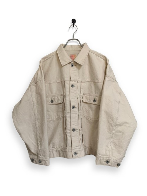 13.5oz Canvas Jacket / one wash / natural