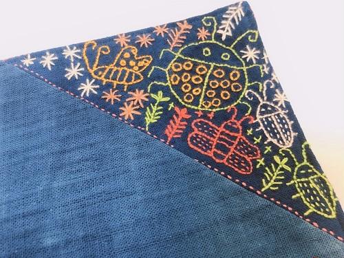 レンテン族 刺繍ランチョンマット むし