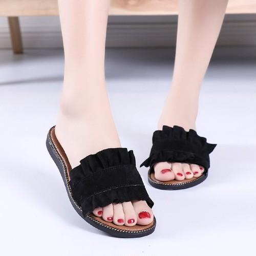 フラットフリルサンダル  /sandal083
