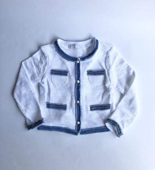 ELSY  パールボタン長袖ジャケット 4才(100cm) エルシー