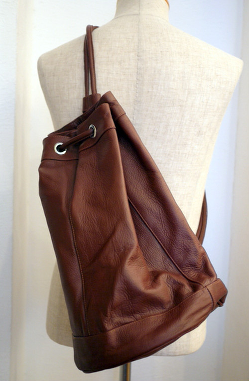 Cow Leather Duffle Bag BROWN