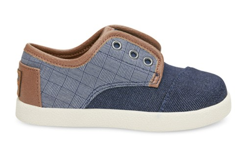 TOMS TINY BLUE DENIM TEXTILE PASEOS