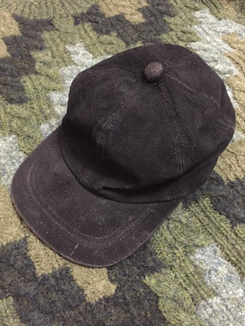 90's cow leather cap