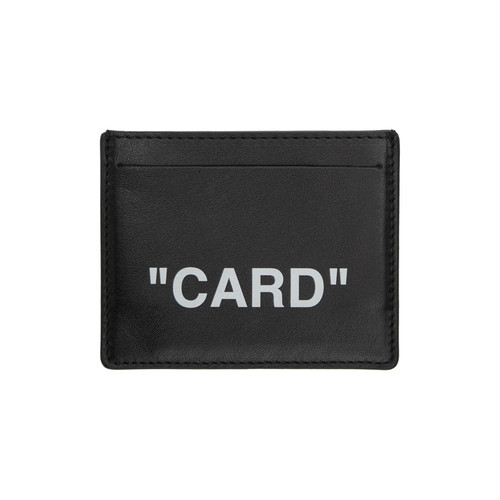Off-White™  /  Black Quote Card Holder