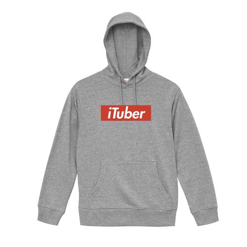 iTuber ボックスロゴパーカー Gray