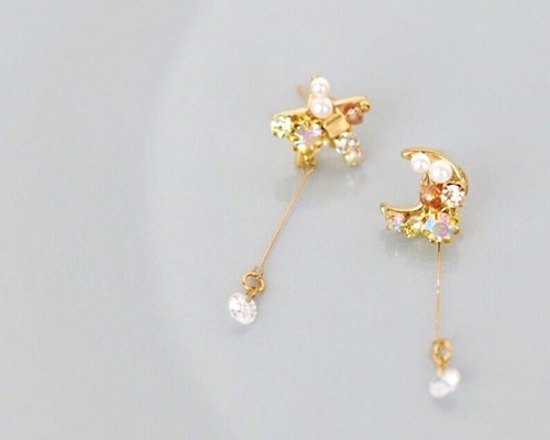 Star×Moon drop pierce/earring