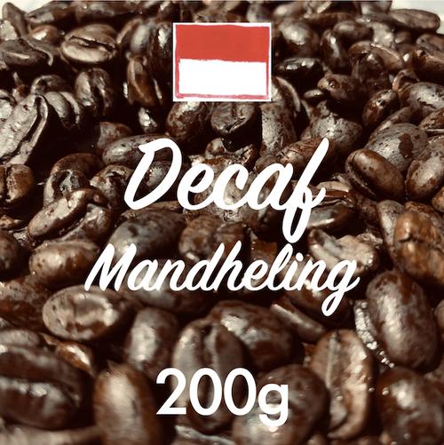 自家焙煎カフェインレス・コーヒー豆「マンデリン・デカフェ」 200g