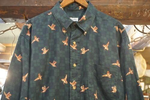 00's Brooks Brothers bird-print plaid Shirt