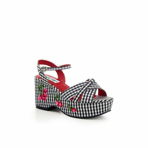 CollectifコレクティフLulu han Twinnie Gingham Cherry Wedge