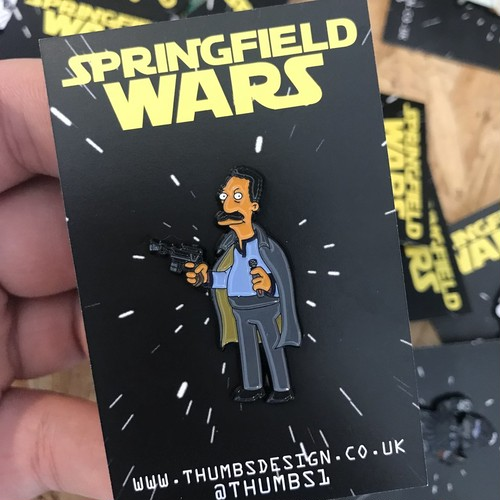 "THUMBS""Carl x Springfield Wars Pin Badge"""